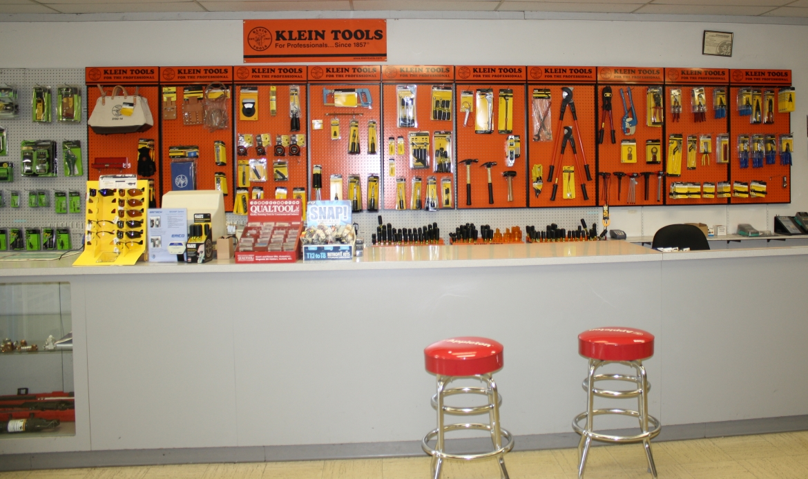 Electrical Supplies at the Sales Counter